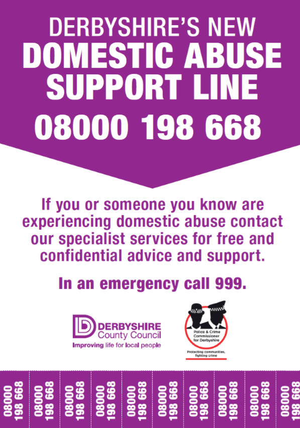 Derbyshire's new domestic abuse support line